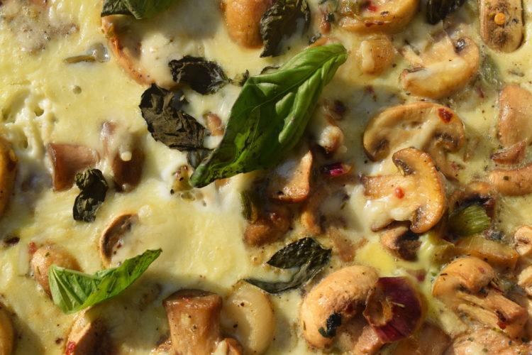 italian mushroom frittata