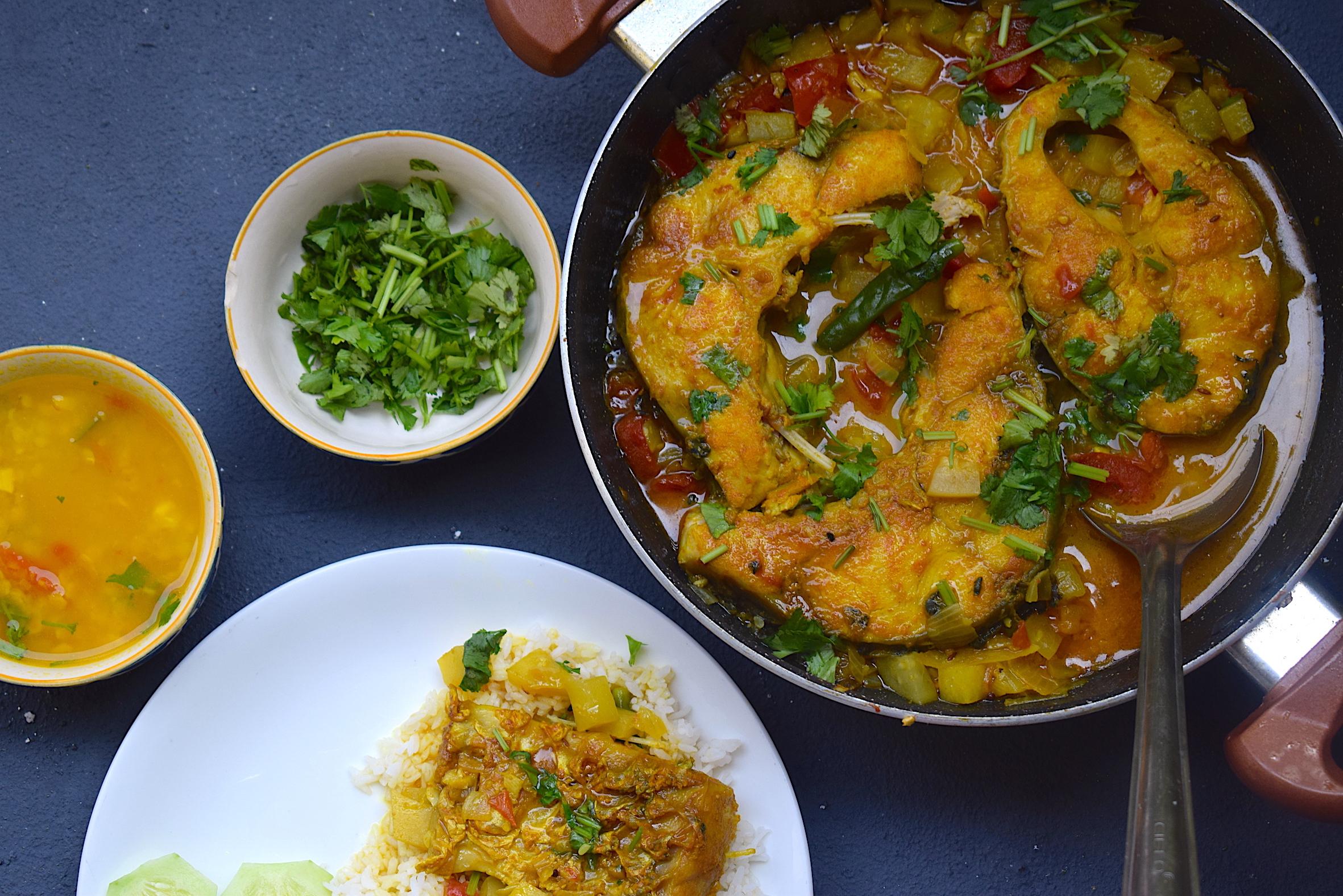 Assamese fish curry