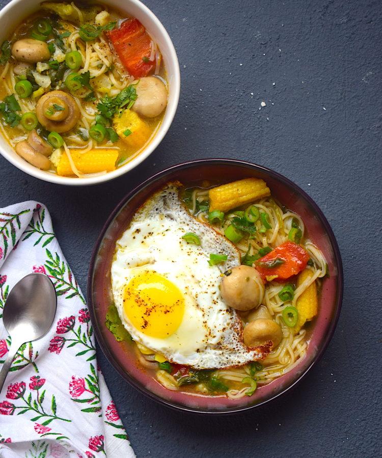 rainbow noodle soup