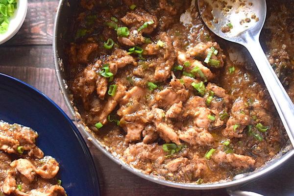 asian style chicken in mushroom sauce