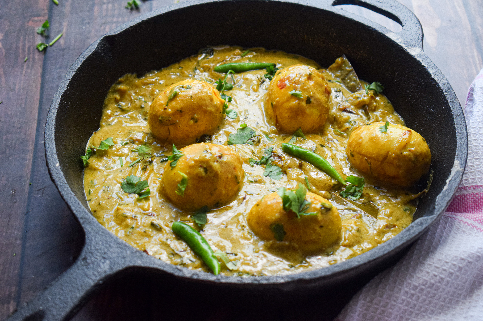 creamy egg curry
