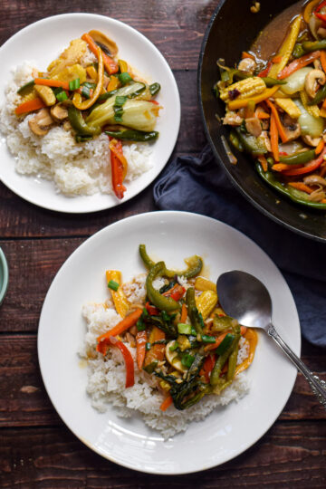 vegetables in oyster sauce