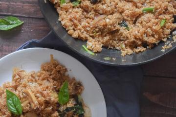 mushroom basil fried rice