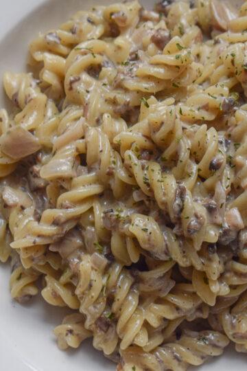 mushroom alfredo pasta