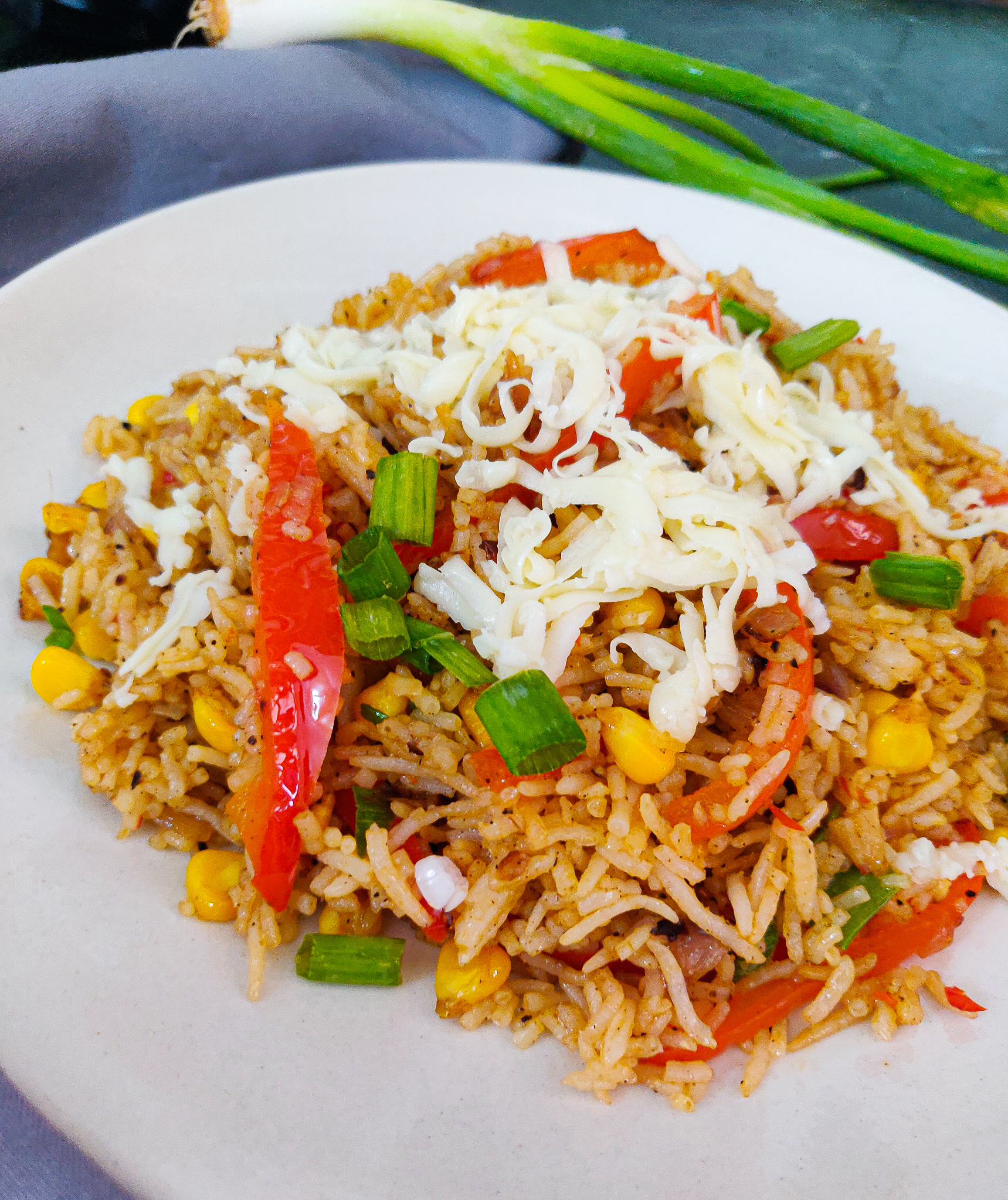 corn pepper fried rice