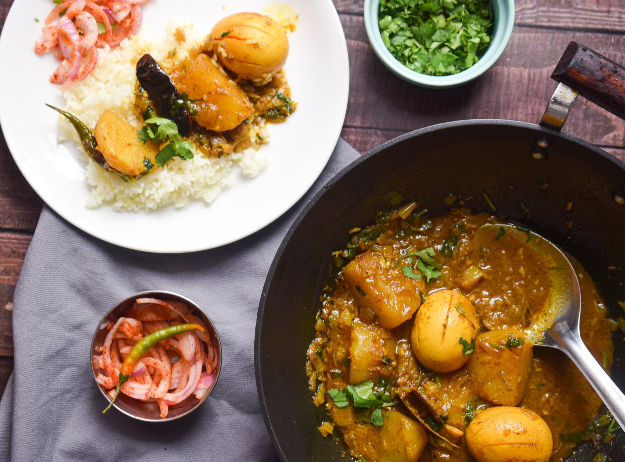 egg curry with potatoes