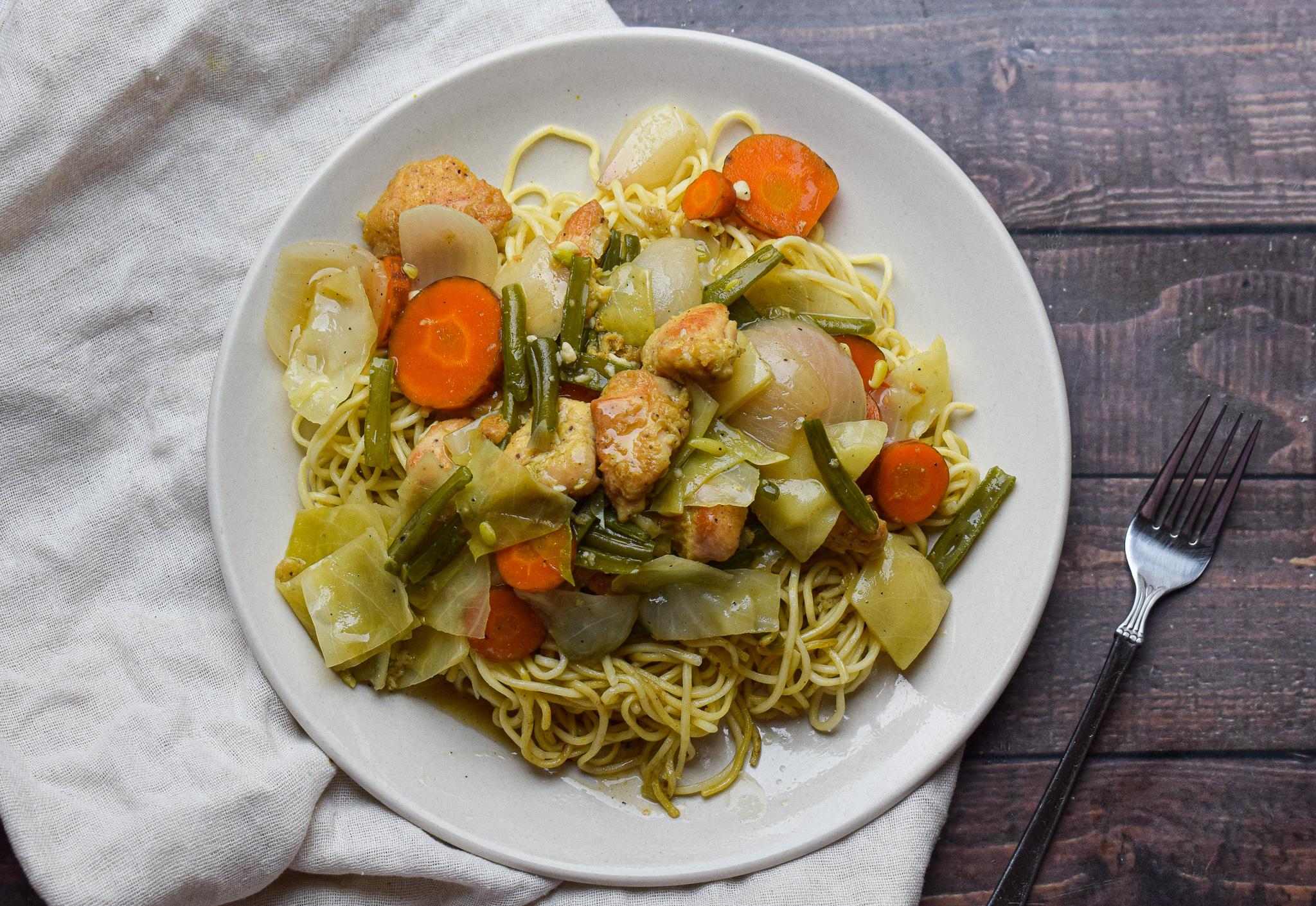 chicken gravy noodles